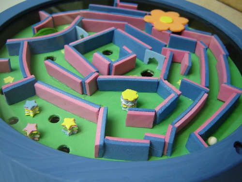 how to make a marble maze maze pizza boxes and foam crafts. Black Bedroom Furniture Sets. Home Design Ideas