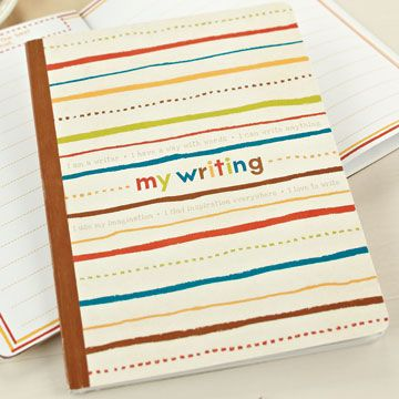 """""""My Writing"""" Inspiration Journal $10 at www.graceandlace.com.au   This interactive writing journal inspires your child to write about favourite people, places or things and create a treasured family keepsake in the process.Years from now, this book will become a treasured reminder of the way a young writer saw the world."""