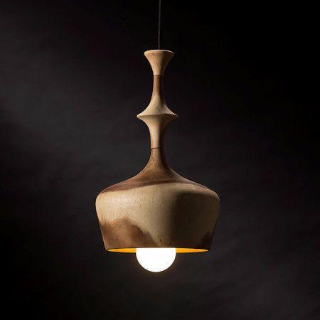 Turned Timber pendant Light