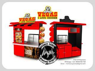 Desain Logo   Logo Kuliner    Desain Gerobak   Jasa Desain dan Produksi Gerobak   Branding: Desain Gerobak Vegas Love Chicken