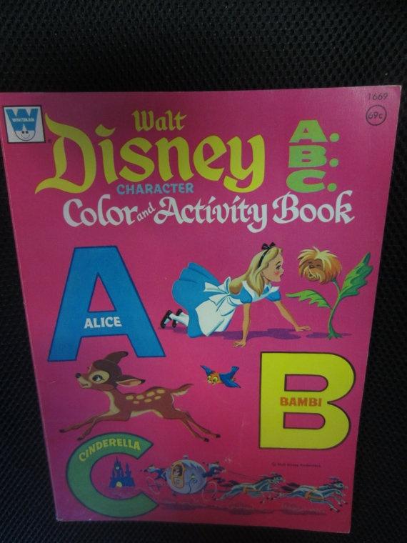 Vintage 1972 Whitman Walt Disney Character Color By Kookykitsch 1400 Childrens CharactersWalt CharactersColor ActivitiesActivity BooksDisney