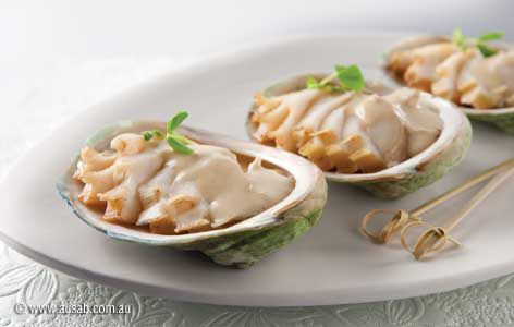 Slow Cooked Abalone with ginger, lemongrass  and cream