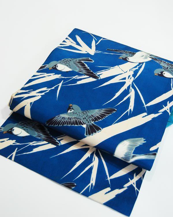 「竹に雀」の帯