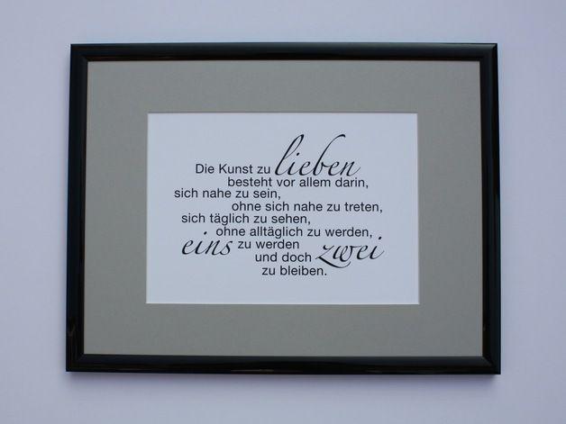 """""""Kunst zu ..."""" Druck+Rahmen yourLifeprint Hochzeit"""