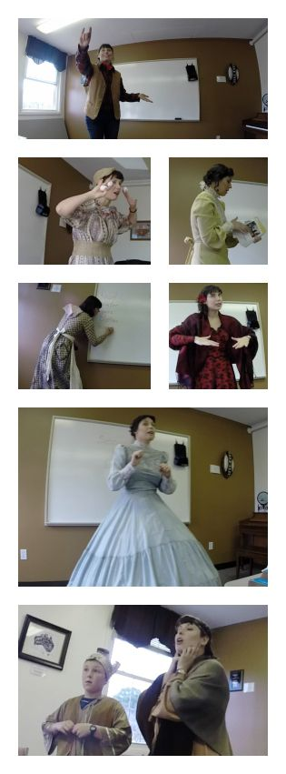 1800s Clothing - Teachers as performers???