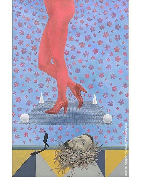 Поднять каблук на высоту более 10 см первым решился дизайнер Сальваторе Феррагамо. Причем первые шпильки были деревянными, легко ломались. Сам Феррагамо исправил ошибку, посадив каблук на металлический штырь. Одной из первых женщин, надевших такой высокий каблук, стала Мерилин Монро. Картина из электронной коллекции #Erarta: Аркадий Морозов «Легкая походка Юдифи». http://shop.erarta.com/ru/shop/catalogue/pictures/detail/a6cb3051-6cc4-11e2-bfca-8920284aa333/ #fashion #history #Monroe…