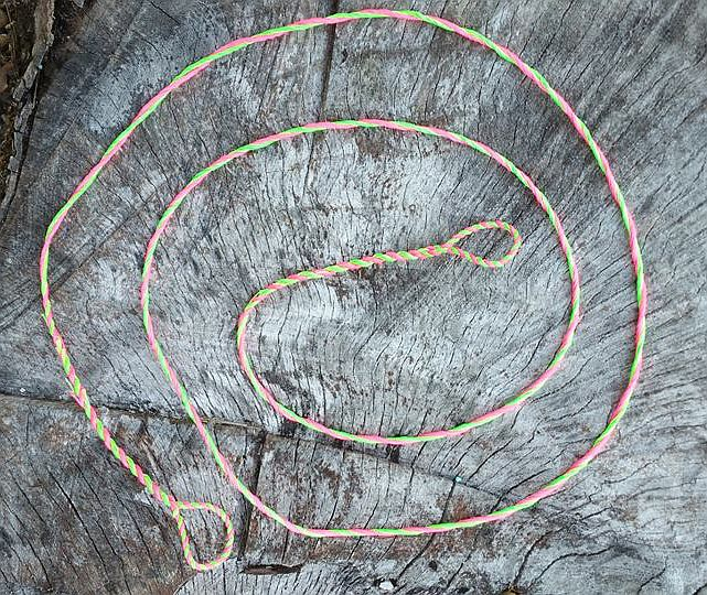 a two-bundle double-loop flemish twist bowstring from Humble Archery https://www.etsy.com/shop/HumbleArchery?ref=hdr_shop_menu&section_id=20244631
