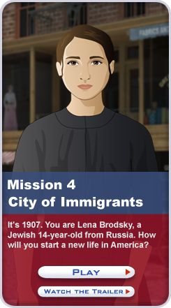 Mission US is a multimedis project that immerses players in U.S. history content through free interactive games.