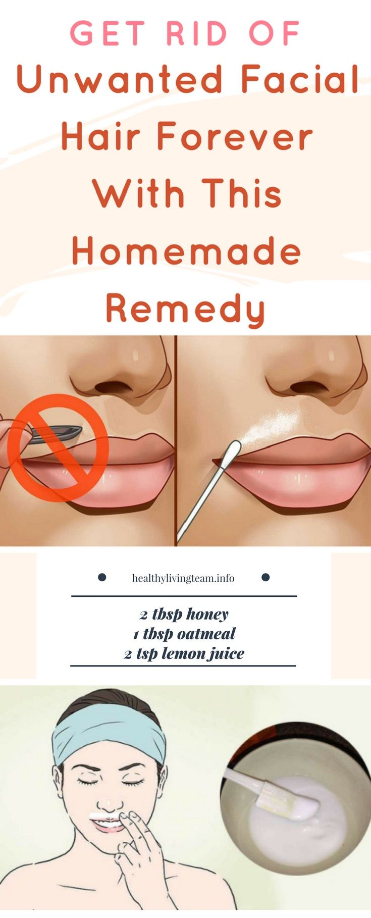 Natural Home Remedy for Unwanted Facial Hair