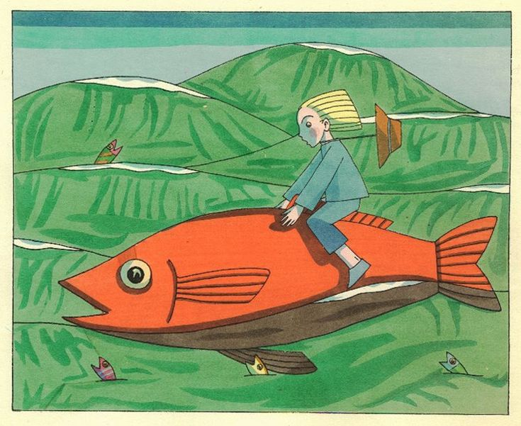 Die Fischreise (The Fish's Journey,  1923) via the Braunschweig University Library(Tom Seidmann-Freud [Freud's niece, Martha]