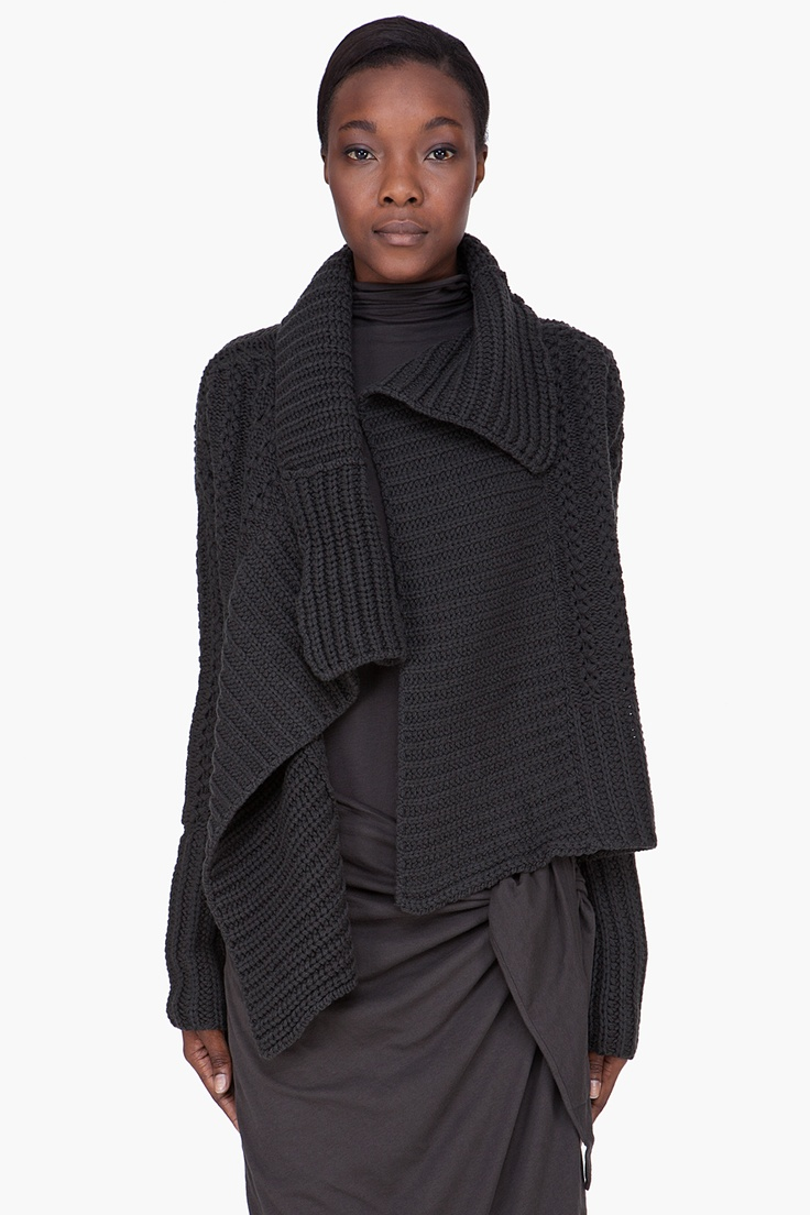 DAMIR DOMA  Damir Doma Charcoal Wool Cashmere Knit Cardigan                deze heb ik in het rood