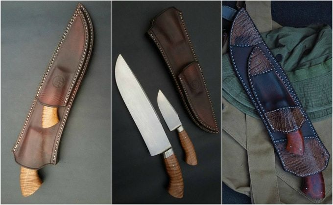 Handmade Dual Sheath with 2 Reward Purchase    LIVE on Kickstarter!  http://kck.st/2s5Tp9X