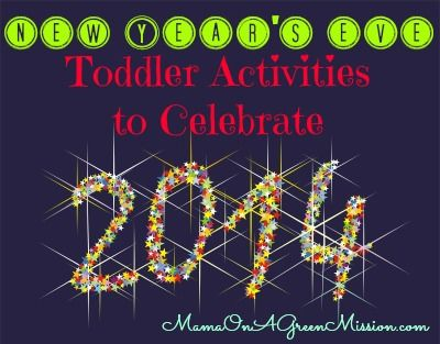 New Year's Eve Toddler Activities for lots of fun at home with the family!