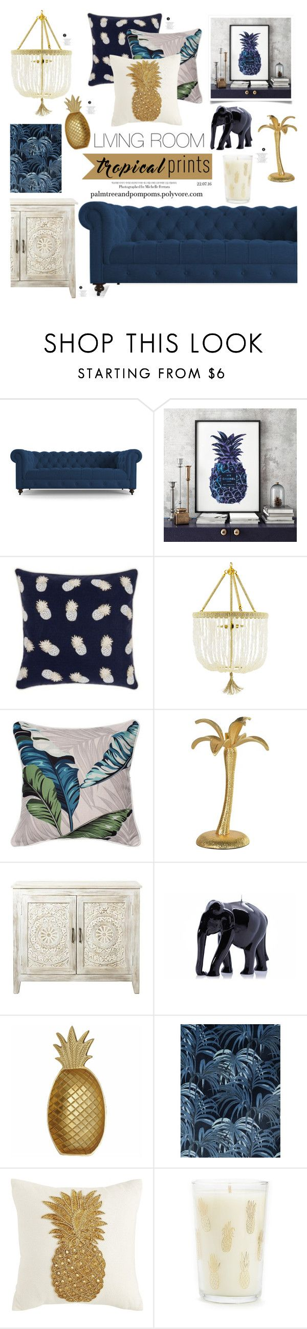 Tropical Prints By Palmtreesandpompoms Liked On Polyvore Featuring Interior Interiors Interior Design Home Home Decor Interior Decorating Chanel