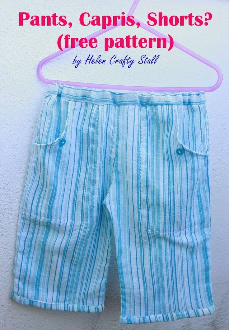 Pants, Capris, Shorts? (free pattern and tutorial)