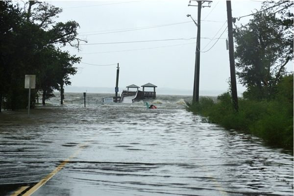 I lived a mile west from this pier in 1991. It was rebuilt in 2007 after Katrina. This is the result earlier today from Hurricane Isaac.