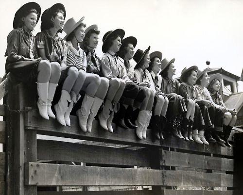 Vintage Cowgirls.