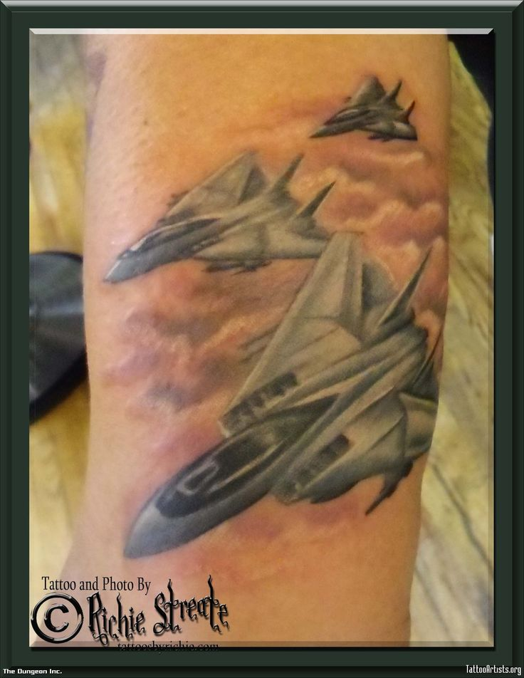 Jet Fighter Tattoo - Tattoo Artists.org