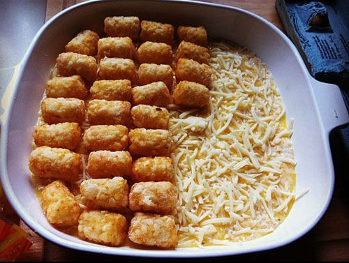 This morning I made a tater tot breakfast casserole. I have been meaning to try one of these for ages. Yum!   I didn't find a recipe that w...