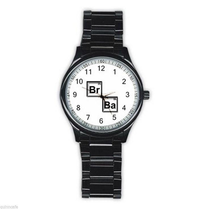 Breaking Bad BLACK Stainless Steel Round Analog Watch