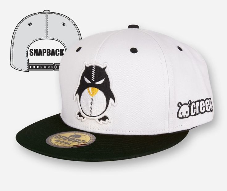 Snapback Zipper White - creepzshop