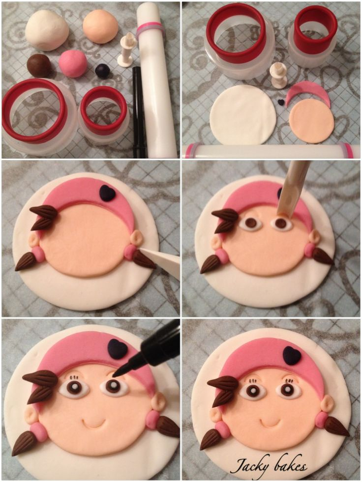 """Pirate tutorial Cupcake topper """"Izzy"""""""
