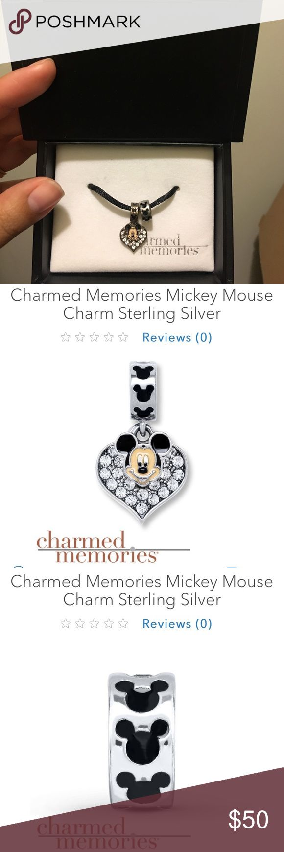 Disney Charmed Memories charms Set of two adorable Mickey Mouse charms from the Charmed Memories collection from Kay Jewelers. Brand new and never worn! Kay Jewelers Jewelry Bracelets