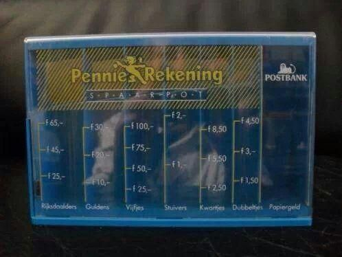 Sparen bij de Postbank? Dan kreeg je deze toffe spaarpot!
