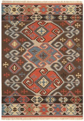 Debenhams Woollen 'Traditional Aztec Kelim' rug | Debenhams