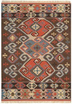 Debenhams Woollen 'Traditional Aztec Kelim' rug   Debenhams