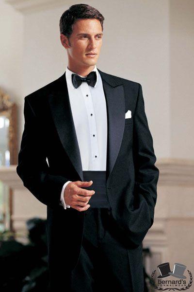 -classic 1 button peak #tuxedo  www.bernardsformalwear.com #bernardstux