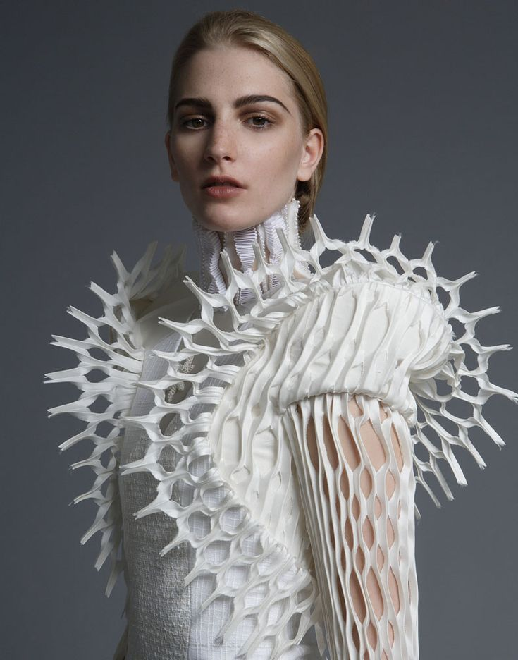 Artistic Fashion - 3D dress detail with intricate cut outs; sculptural fashion // Thom Browne S/S 2014