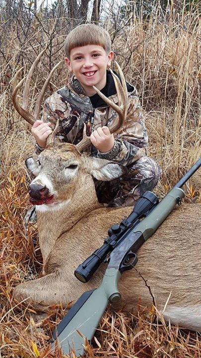 Texas Fish & Game Photo of the Day  10 year old Cougar Jetton harvested his first deer near the Red River in Charlie, TX.  To view more photos be sure to check out our online photo contest on fishgame.com by visiting http://fishgame.com/texas-hotshots-photo-contest {#fishing #Hunting #Fish #icefishing #camping #flyfishing #bass #bassfishing  #boat #Florida #trout #boating #fishing #flyfishing #outdoors #vacation  #fishing #family #sea #carp #boats #angling #lake #tuna #ocean #Salmon #fishing…