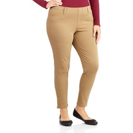 c5ed68a4c4b Faded Glory Women s Plus-Size Ankle Length Knit Jegging