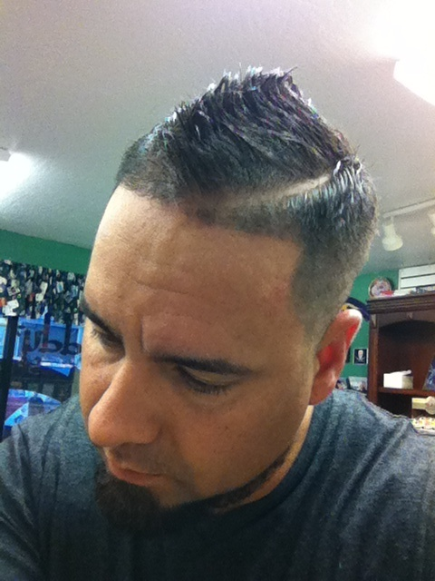 Faux hawk line up with part | Barber life! | Pinterest ...