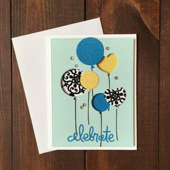 Handmade Birthday Card Happy Birthday by CharmingCardDesigns