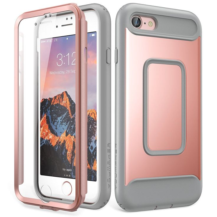 iPhone 8 Case, 7 YOUMAKER Full Body Heavy Duty Protection Shockproof Slim...