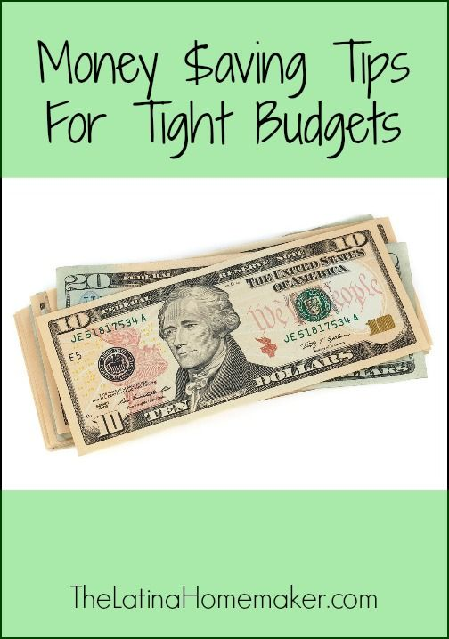 Money Saving Tips For Tight Budgets