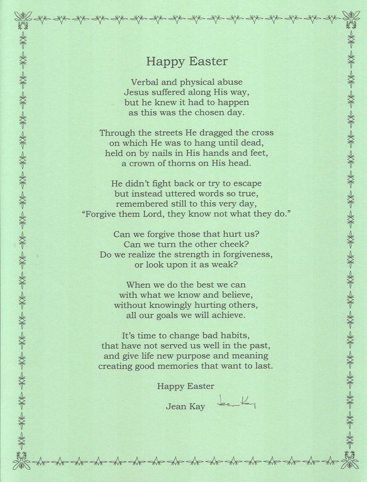 Best 25+ Easter poems ideas on Pinterest | Easter story ...