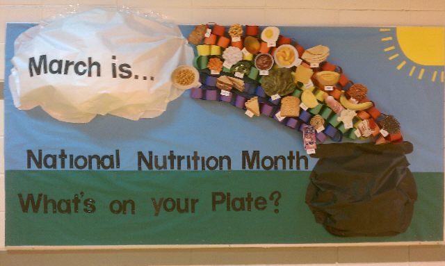 March is a great month to focus your lesson plans and bulletin boards on the importance of nutrition, because it's National Nutrition Month! PE Central has many