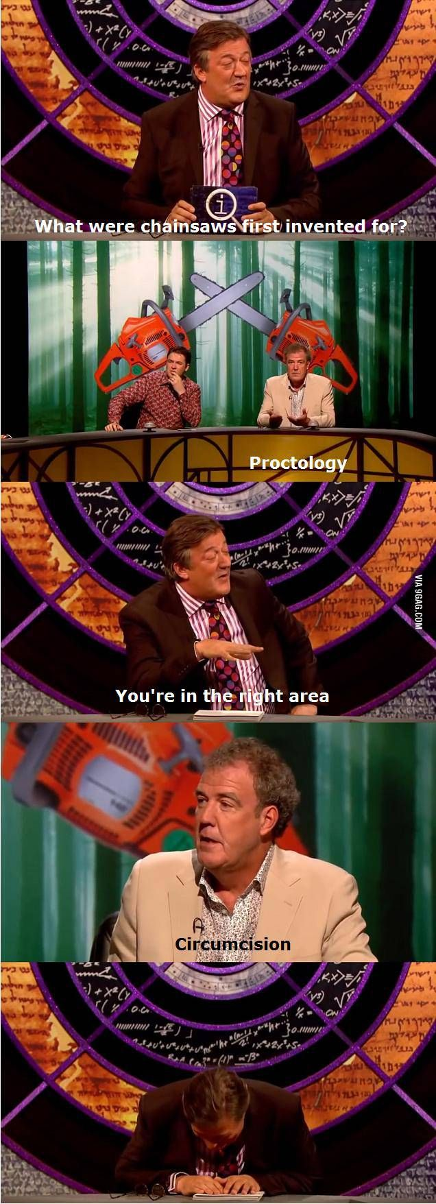 Jeremy Clarkson on chainsaws
