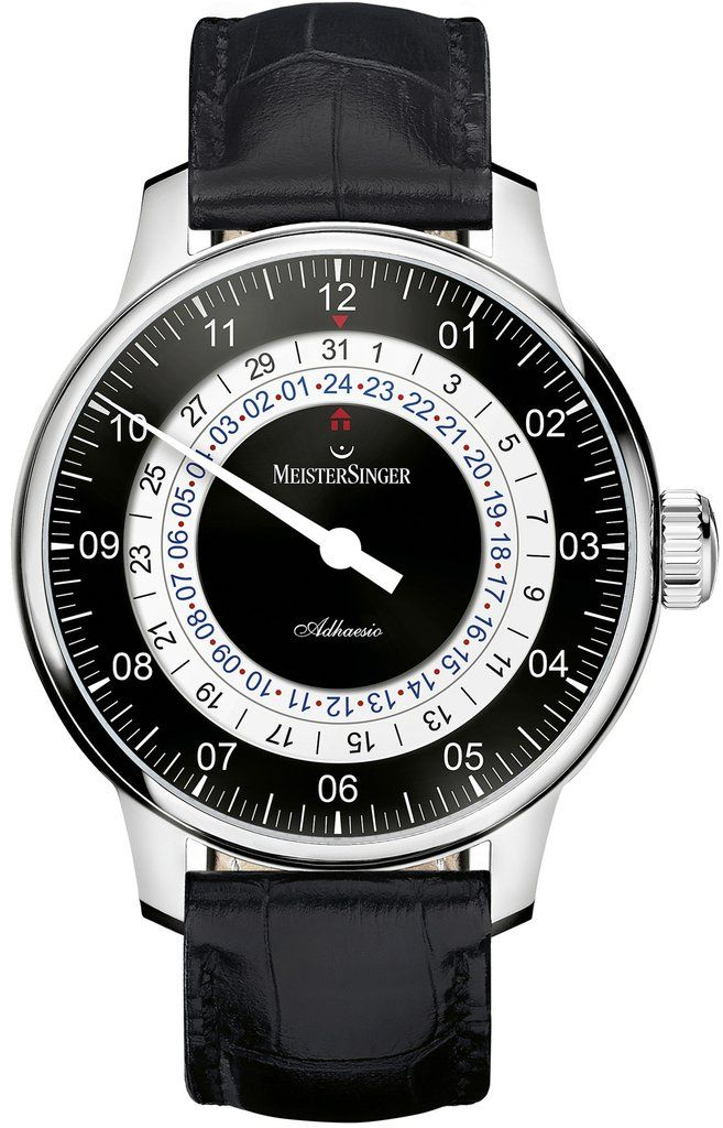 MeisterSinger Watch Adhaesio #bezel-fixed #bracelet-strap-leather…