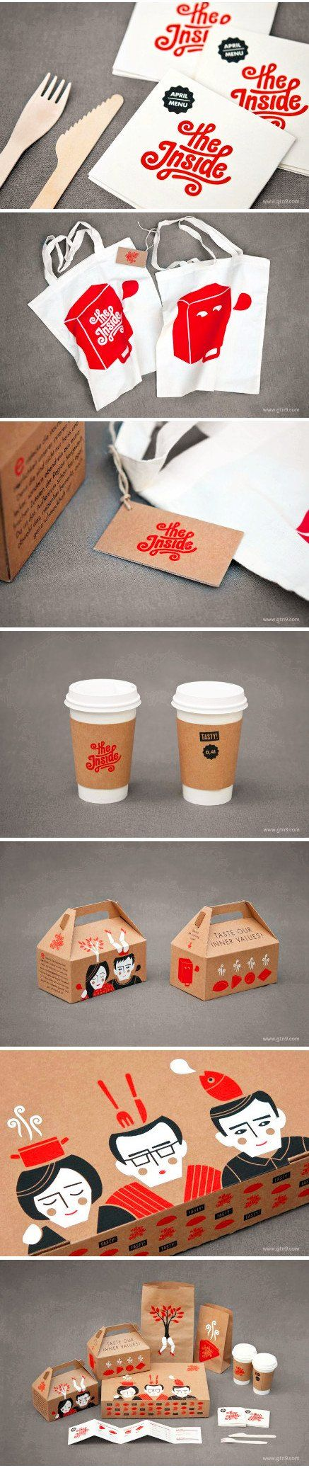 diseño gráfico logo diferentes soportes the inside 品牌形象设计#packaging #branding #marketing PD