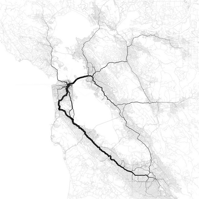 Love these maps by Eric Fischer - shows where people go when in transitSan Francisco Bay