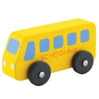 It's much more fun going on the school bus when you can take a bus of your own with you. Sevi's Miniature School Bus is handcrafted from wood.