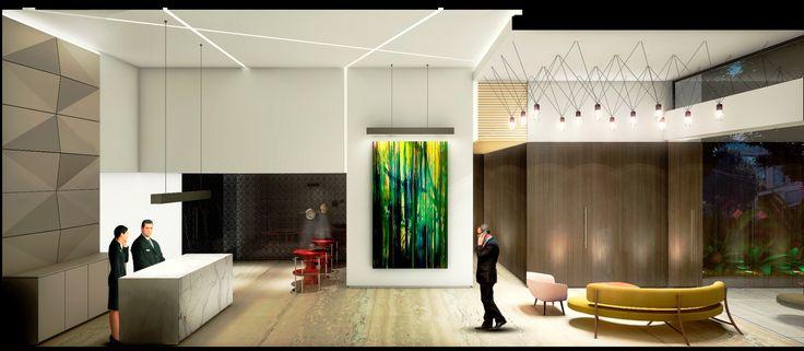 AREA 98.   LOBBY. Edificio de Oficinas & Apartamentos 1, 2 y 3 Alcobas. Bogotá, Colombia www.glarquitectos.com