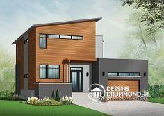 Plan de maison no. W3456-V1 de DessinsDrummond.com offrant bureau à domicile