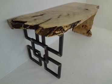 Modern Wood Desk or Console - Mecox Gardens