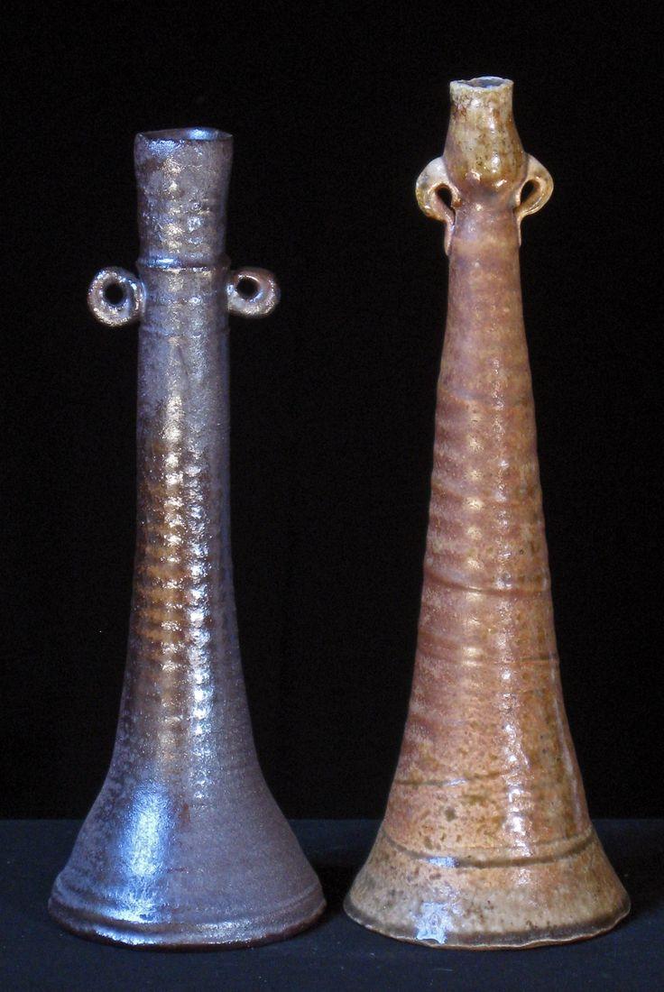 Two Single Flower Vases by Estelle Martin