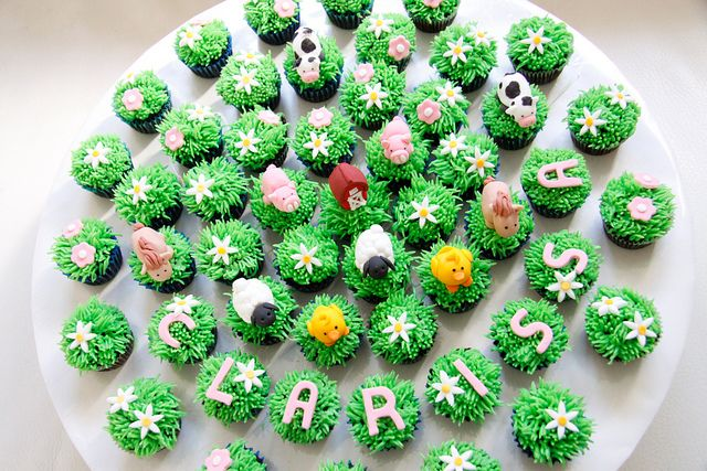 Farm Animals Mini Cupcakes by Bake-a-boo Cakes NZ, via Flickr